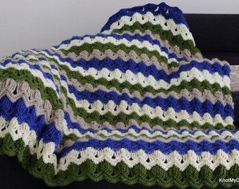 Crochet Autumn Lapghan/Blanket/Throw/ Afghan for winter - Knot My Designs