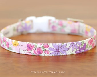 Gentle Flower Cat Collar – Purple