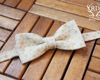 Bow tie with geometric motif