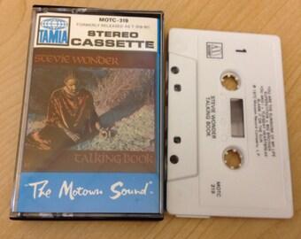 "Stevie Wonder ""Stevie Wonder Talking Book"" Vintage Cassette Tape in good shape"