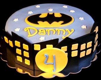 Batman cake decor