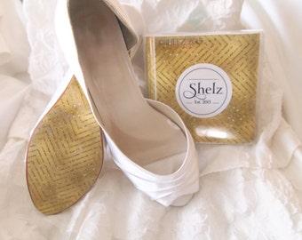 Wedding Shoe decal High Heel Shoe Decoration - Champagne Sparkle