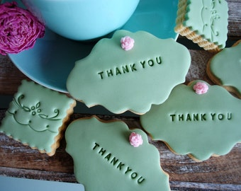 Thank You Gift /Iced Biscuits/Edible Gift/ Biscuits /Sweet Treat/Thank you