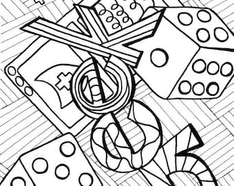 Geek Coloring Page