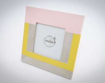 Pink touch - wooden photo frame