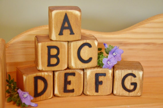 Items similar to Anthony's Non Toxic Wooden Alphabet ...