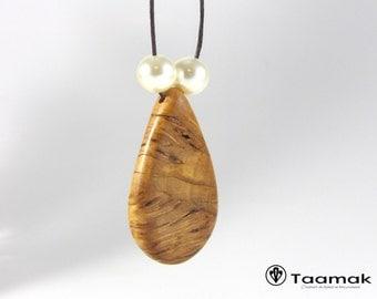 Birch wood necklace