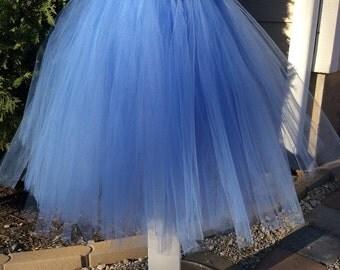 blue flower girl dress, tulle dress, flower girl tutu dress, flower girl dress , 1st birthday dress, princess tutu dress, frozen tutu dress