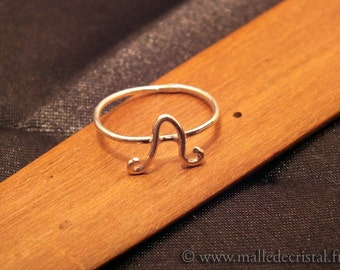 Inicials - Nickname - Silver Sterling 925 RING handmade