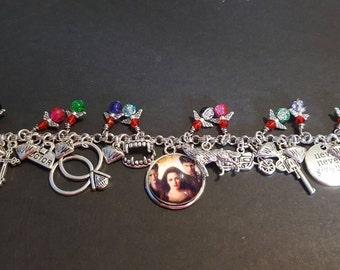 Twilight inspired stainless steel charm bracelet