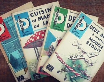 """Magazine vintage - system - 1963 - 4 numbers """"whole system D"""" - Magazine french illustrated DIY"""