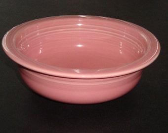 Vintage FIESTA WARE ROSE Serving / Vegetable / Nappy Bowl