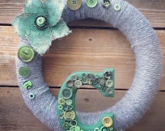 All Season Personalized Wreath