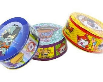 Yo-kai watch set of 3 vinyle tapes and 6 circle stckers  craft set