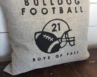 Custom Football Pillow