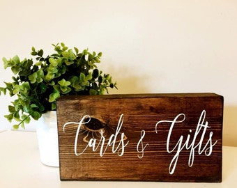 Rustic Wedding Cards and Gifts Sign, Hand Painted