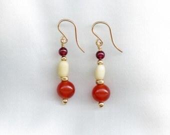 Earrings with Barley Beads