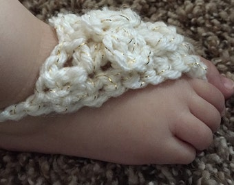 Crochet barefoot baby sandals, soft baby crochet sandals, barefoot baby sandals