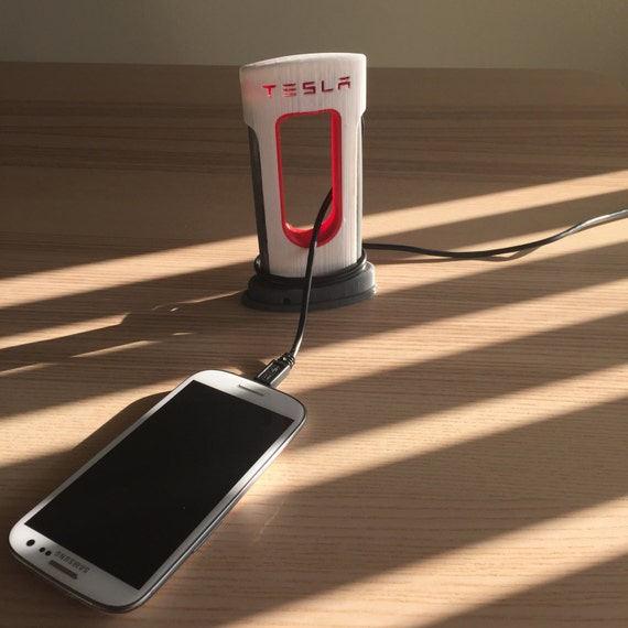 Tesla Supercharger Phone Charger 3D Printed