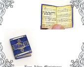 BACH Music Sheet Dollhouse Miniature Book –1:12 Openable J. S. Bach Music Sheet Music Miniature Book Dollhouse Music Book Printable DOWNLOAD