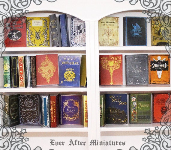28 MYTHICAL CREATURES Dollhouse Miniature Book Cover Set