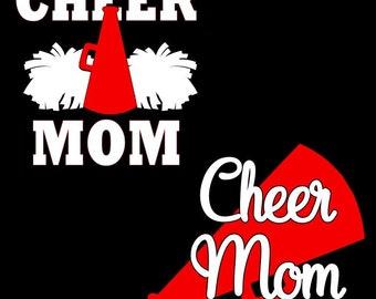Cheer Mom Cheerleader Decal Megaphone Sticker Cheer Sticker Custom Cheer Decal