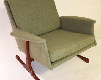 Mid Century Modern Kofod Larsen Arm Chair