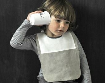 Natural Linen Baby Bib Boy, Gift Idea, Infant Bib, Linen Bib