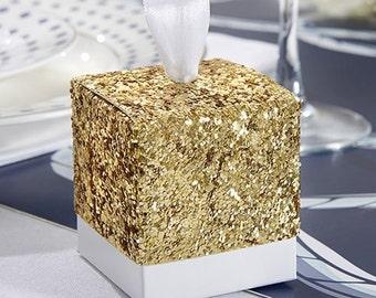 The 10 boîtes à dragées glitter gold