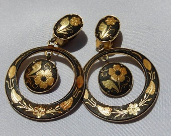 Old Earring with Floral Engraving