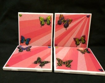 Beautiful Butterfly Coasters