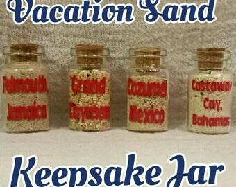 Vacation Sand Keepsake Jars (set of 4)