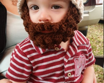Toddler Bearded Beanie