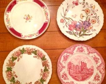 Set of 4 Vintage plates