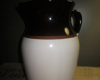 Vintage Stoneware Pitcher Jug Made in the USA