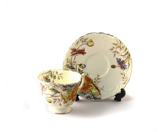 Aynsley Floral Tea Cup and Saucer