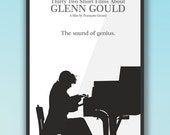 Glenn Gould - Thirty two short films about Glenn Gould, Poster minimalista, poster alternativo, François Girard, cartel de pelicula