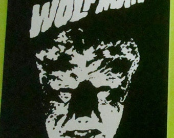 The Wolfman STICKER - vinyl - Universal Monsters / Horror / Lon Chaney Jr.
