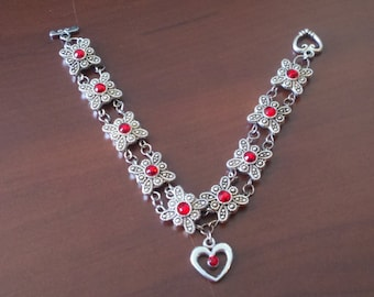 Ruby Heart Bracelet #12489