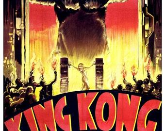 Vintage King Kong Movie Poster Print