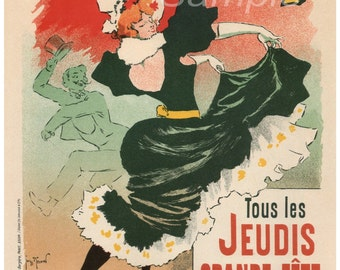 Vintage Bullier Theatre French Advertising Poster Print