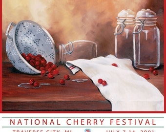 2001 National Cherry Festival Print (75th Anniversary)