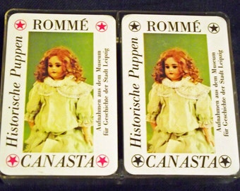 "Old deck of cards ""Historic dolls"" from the 90s"