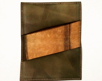 Leather Double Card Holder *Olive*
