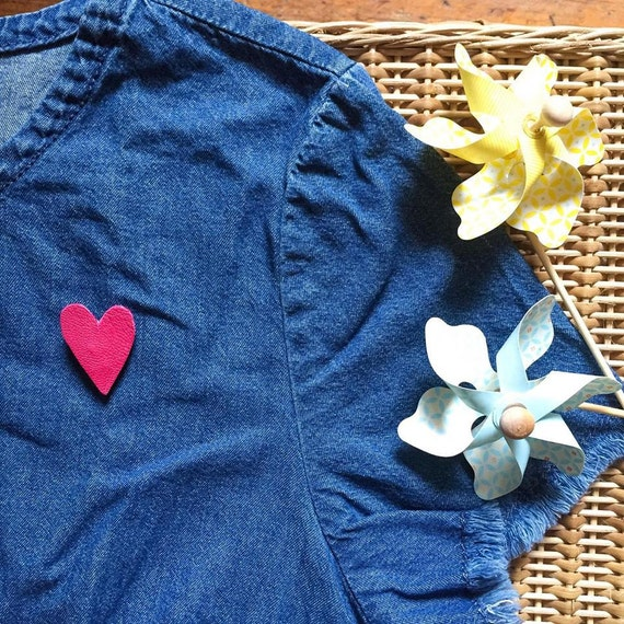 Pretty heart leather - limited EDITION - Handmade - La Rochelle