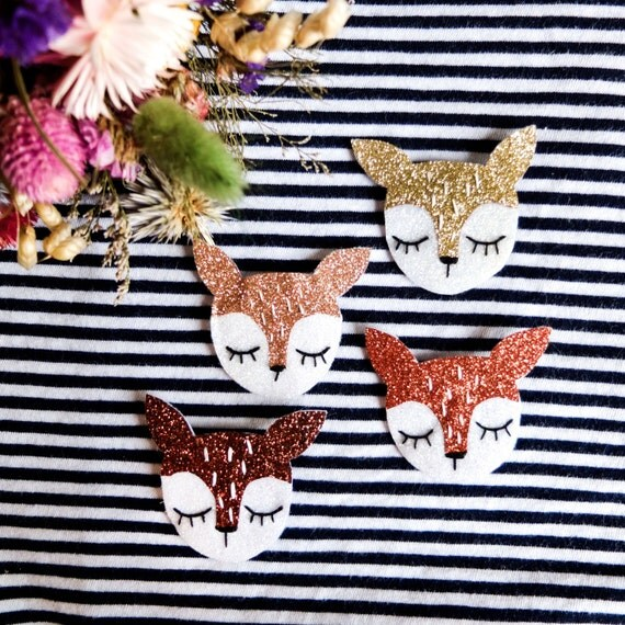Crowbar - Baby Bambi brooch - tender Cactus - Handmade - La Rochelle