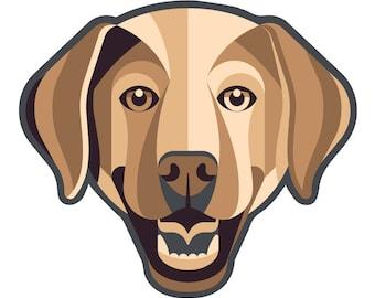 Labrador Retriever Die Cut Sticker GD089
