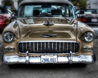 1955 Chevy 210 - Automobile Photography, Classic Cars, Automotive Photography, Classic Automobiles, Automotive Decor, Old Car Picture