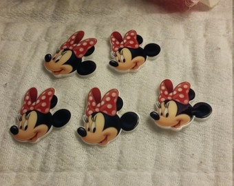 Minnie mouse flat back resins sold as piece set