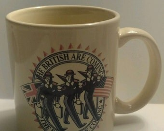 MFS Investment Management Banking Coffee Mug Advertising British are coming Flags